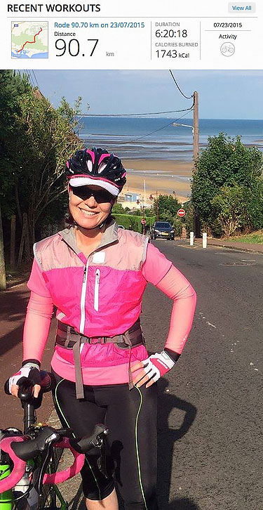 Mel UK to Paris Bike Ride Image 003